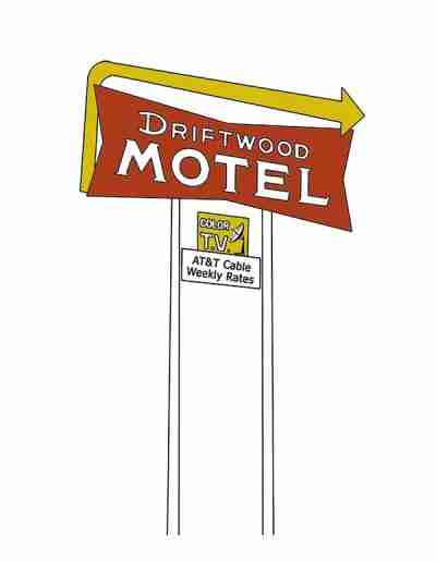 Driftwood Motel COLORED