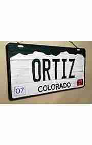 Custom Colorado License Plate