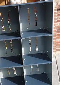 Metal Shelves Repurposed