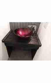 Rustic Built-In Bathroom Vanity