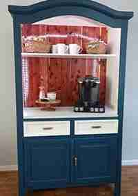 Armoire Repurposed to Coffee Bar