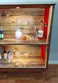 Repurposed Mid Century Modern Liquor Cabinet