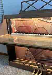 Piano Converted to a Desk