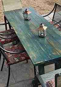 Patio Table from Pergola Wood